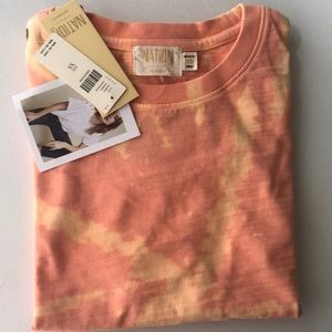 Nation LTD Lisa Spiral Tie Dyed Tee Top XS